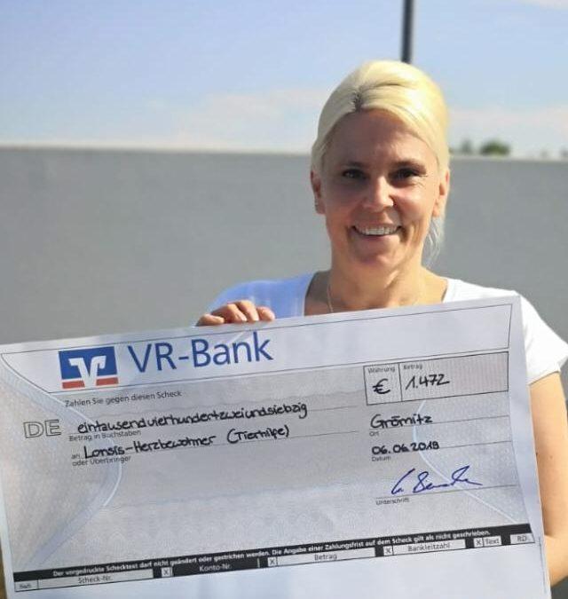 Spende von der Gemeinschaftsschule Grömitz für die Lonsis-Herzbewohner Stiftung (Treuhandstiftung)